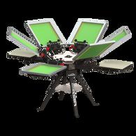 Vastex V-1000 Floor Standing 4 Station 6 Color Press