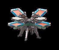 Vastex V-2000HD Floor Standing 4 Station 4 Color Press