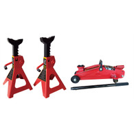 2 Ton Trolley/Jack Stands Combo