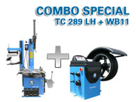 TC289LH + WB11 wheel balancer and tire changer