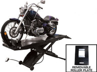 Atlas HT-ACL Cycle Lift 1,000 Capacity with Drop In Rear Wheel Roller Plate