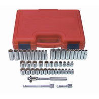 "47 Piece 3/8"" Drive 12 Point SAE and Metric Socket Set"