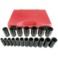 19-Piece 1/2,  Drive Deep Impact Socket Set