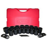 "15 Piece 3/4"" Drive Short Metric Impact Socket Set"