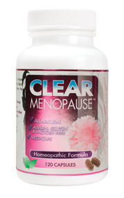 Clear Menopause 120 capsule bottle.