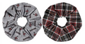Scrunchies - Plaid 2 PC Set
