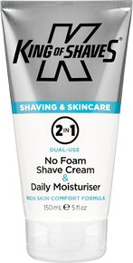 2 in 1 No Foam Shave Cream + Moisturiser 150ml