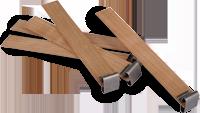 WW-1 - Wooden Wick Soy Wax - Medium Crackle (Bag of 25)
