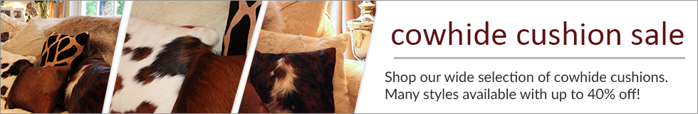 Cowhide Cushion Sale