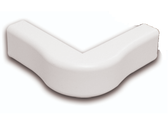 Quest OUTSIDE CORNER RACEWAY ACCESSORY, White