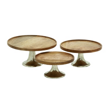 Set of 3 Wood Deco Cake Stands -  10'', 12'', 14'' Risers