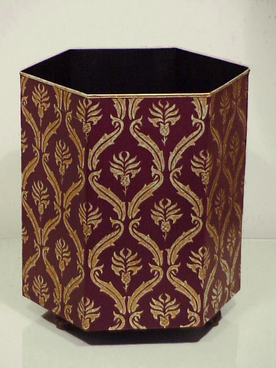 Lattice Waste Paper Bin - Wine/Red