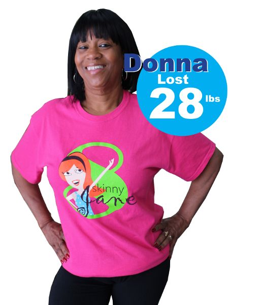 Donna lost 28 pounds with SkinnyJane