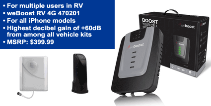 RV iPhone Signal Booster For Multiple Users