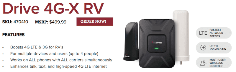 Drive 4G-X RV Cell Phone Signal Booster.