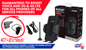 weBoost Drive 4G-S 470107 Cradle Booster Kit with accessories valued at $50 (automatically added to cart): Bluetooth Headset and 12 Volts Power Outlet Splitter/ Extender with this purchase!