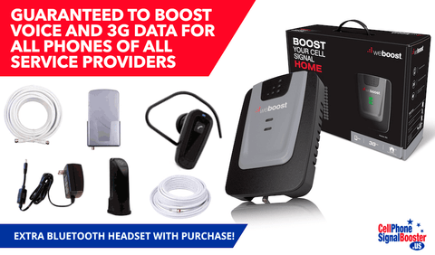 weBoost Home 3G Desktop Booster Kit with Bluetooth Headset!