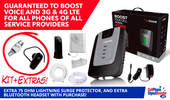 weBoost Home 4G Desktop Booster Kit with Surge Protector and Bluetooth Headset!