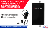 weBoost 3G Signal Compact 470209 kit contents PLUS Bluetooth Headset.
