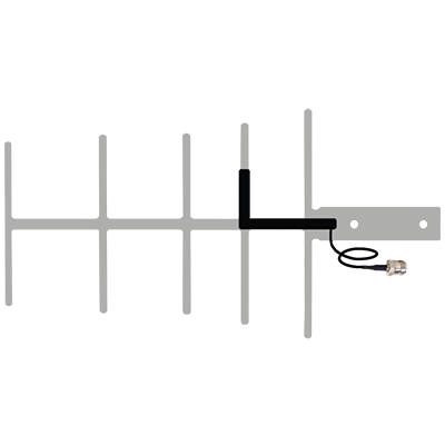 Yagi Antenna with 12 inches RG174 Cable and N Female Connector (weBoost  311129)