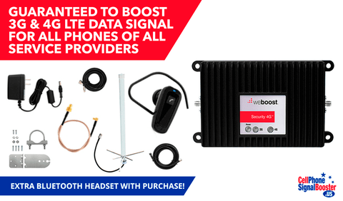 weBoost Security 4G 471119 Kit PLUS Bluetooth Headset.