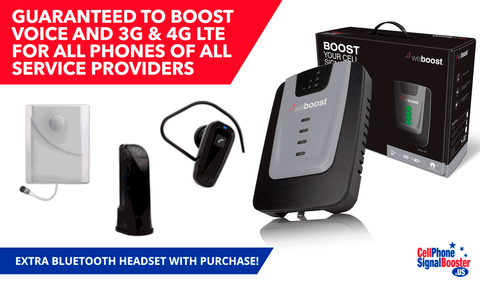 weBoost RV 4G Kit PLUS Bluetooth Headset.