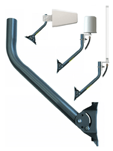 J Pipe Pole Mount for Antenna Installation (19 inches - Fully Adjustable). Antennas shown NOT included with purchase. Mount any type building exterior Yagi directional or omnidirectional antennas with help of this J-Pipe pole.
