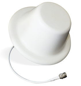 4G Dome Antenna. Indoor Ceiling Wide Band Antenna Dome (50 Ohm Broadband 698 MHz to 2700 MHz) .