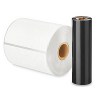 "Zebra 4.33"" x 243' Wax Thermal Transfer Ribbon 18105957  (ZD220 