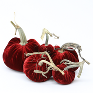 Velvet Pumpkin Large Set - Holiday Reds