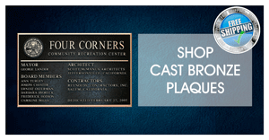 custom cast bronze plaques
