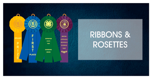 custom ribbons rosettes awards