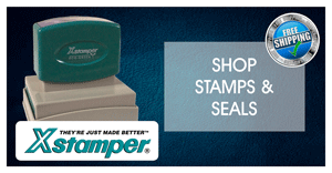 custom rubber stamp xstamper