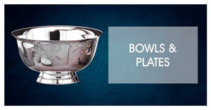 personalized silver bowls plates engraved