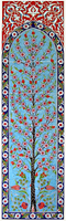 40cm x 140cm Hand Painted Iznik Art Ceramic Wall Mural