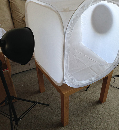3) Place one l& at either side of the tent kit. You will notice that the further your l&s are away from the tent the more diffused the light will be. & Product Photography Tutorial Part Two: Taking your first product ...