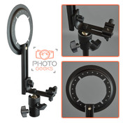 Flash Hotshoe Bracket with Easy Folding Softbox Mount - L Shape