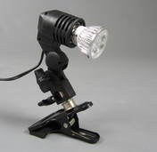 Image of the 4w Diamond Jewellery LED Sparkler Spotlight and clamp.