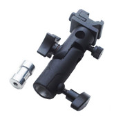 Image of hot shoe mount and umbrella holder.