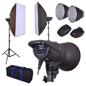 Studio Flash Softbox Lighting Kit | 2 x F121 400w | Photography Strobe | PhotoGeeks