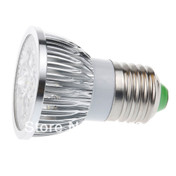 Image of the LED sparkler bulb lying on it's side, showing the E27 screw fitting and the shape of the LED bulb.