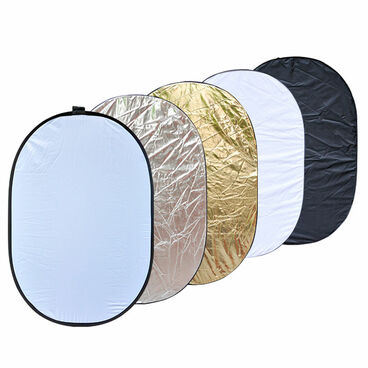 Oval reflector showing all five sides.