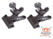 Two clamps with ball head attachment and 1/42 screw thread.