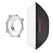 A side view of the M-series softbox and speed ring.