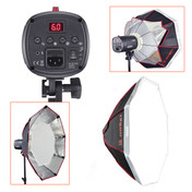 Jinbei flash head and octobox light modifier