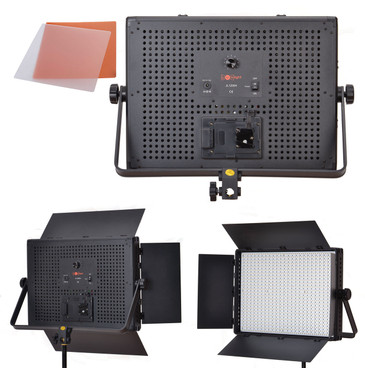 Multi view of the LED panel from behind and in front