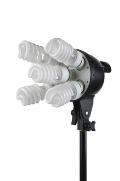 front view of five bulb light head.