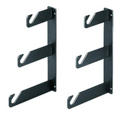 A Pair Wall Mount Triple Backdrop Hooks
