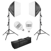 Easy Assembly 2 x LED Softbox Kit | 2 x 3000 Lumens