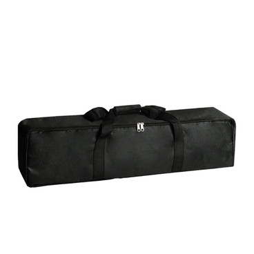 A view of the carry bag, zipped up showing how it would look full of equipment.